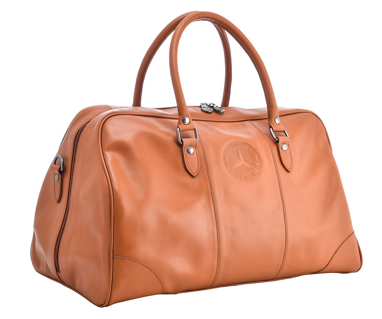 Classic leather bag classic collections mercedes for Mercedes benz handbags