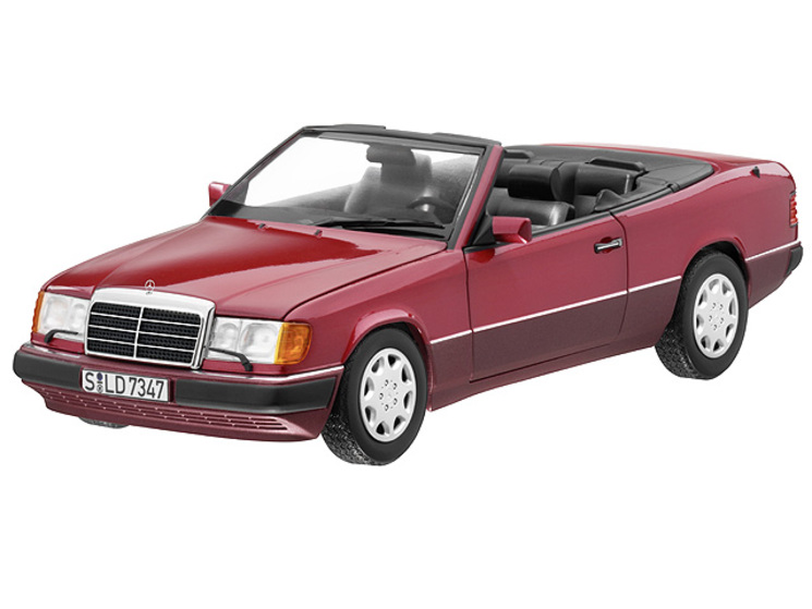 mercedes benz w124 cabrio rot 1 18 ma stab 1 18 pkw. Black Bedroom Furniture Sets. Home Design Ideas