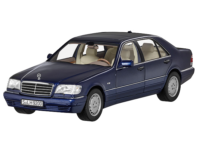 s 500 l v140 1994 1998 azuritblau 1 18 mercedes benz. Black Bedroom Furniture Sets. Home Design Ideas
