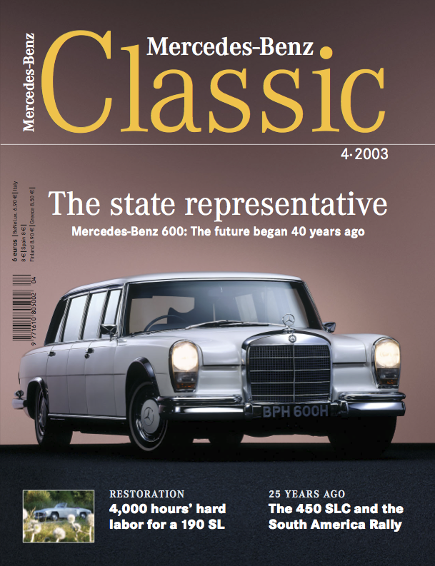 mercedes benz classic magazine 2003 4 english mercedes. Black Bedroom Furniture Sets. Home Design Ideas