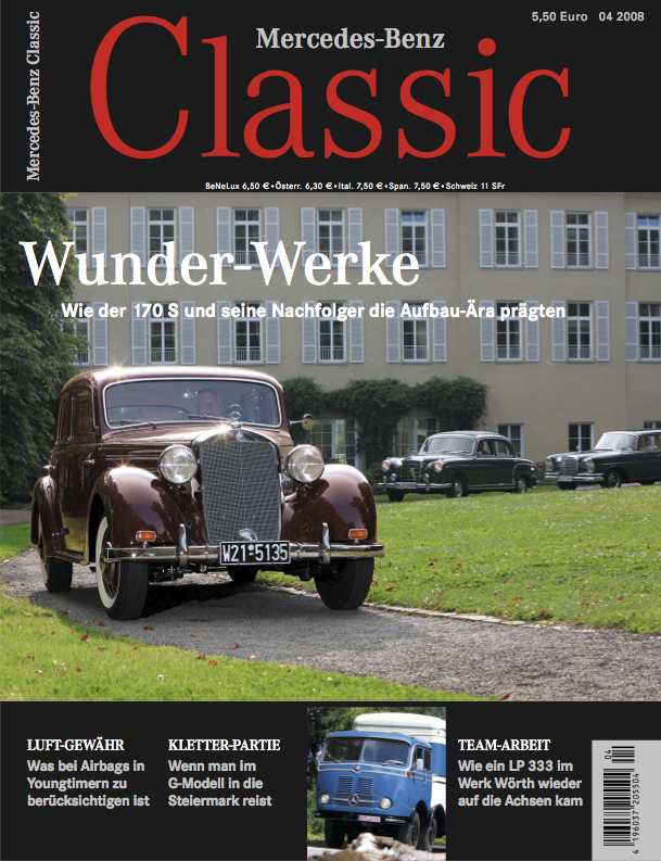 mercedes benz classic magazin 2008 4 deutsch mercedes. Black Bedroom Furniture Sets. Home Design Ideas