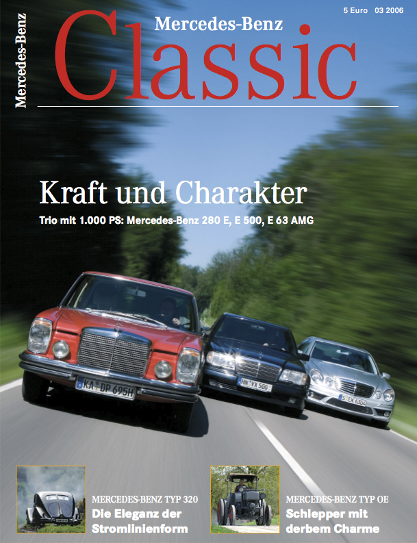 mercedes benz classic magazin 2006 3 deutsch mercedes. Black Bedroom Furniture Sets. Home Design Ideas