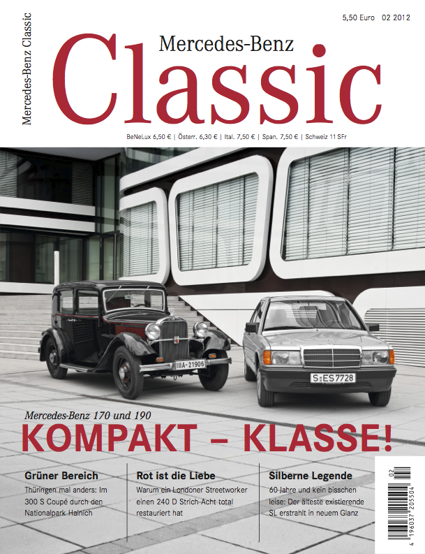 mercedes benz classic magazin 2012 2 deutsch mercedes. Black Bedroom Furniture Sets. Home Design Ideas