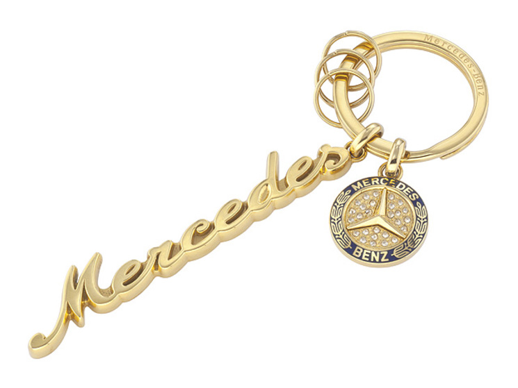 Key chain women classic gold key chains accessories for Mercedes benz key chain