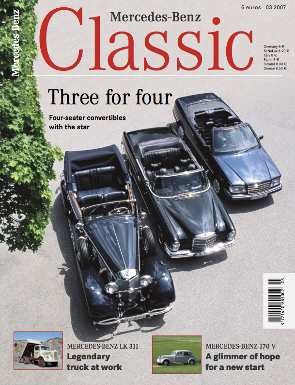 mercedes benz classic magazine 2007 3 english mercedes. Black Bedroom Furniture Sets. Home Design Ideas